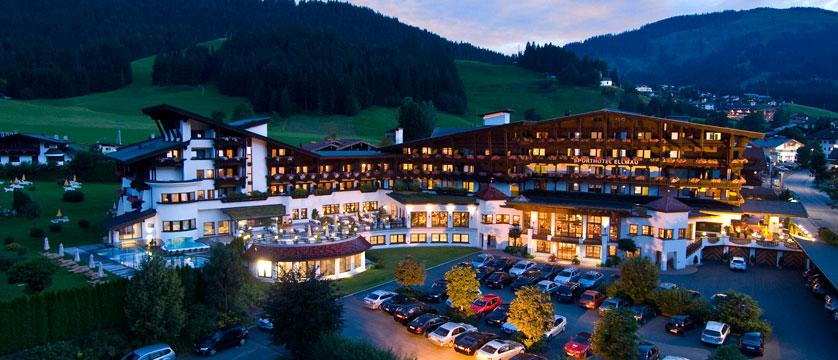 Sporthotel Ellmau, Ellmau, Austria - Exterior at dusk.jpg